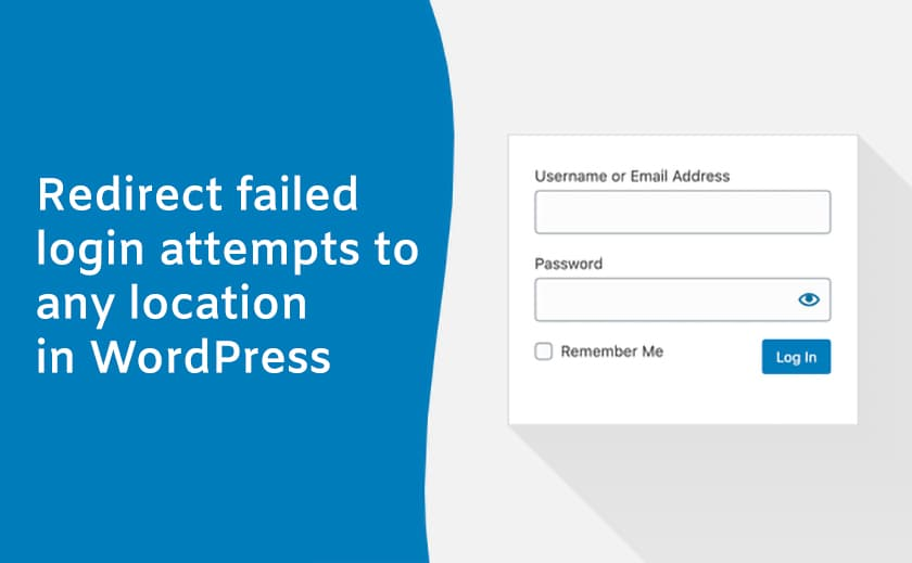 Redirect failed login attempts to any location in WordPress