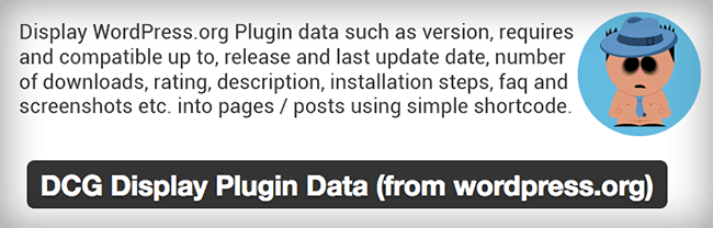 DCG Display Plugin Data