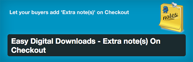 Easy Digital Downloads - Extra note(s) On Checkout