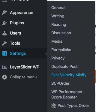 Step 1 - LayerSlider conflict with Fast Velocity Minify Plugin in WordPress